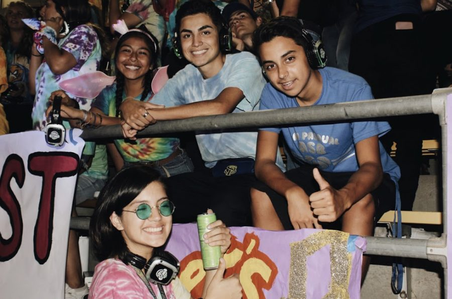 San Pasqual High School students at the nest during the homecoming football game