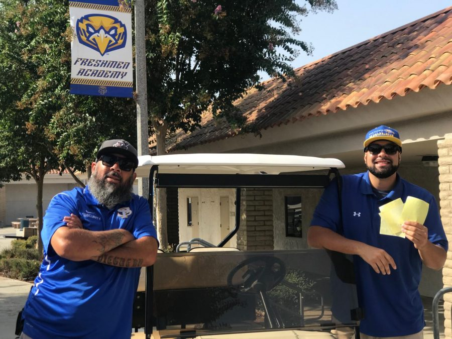 Security guards not only build relationships with students, but help keep San Pasqual High School safe and secure.