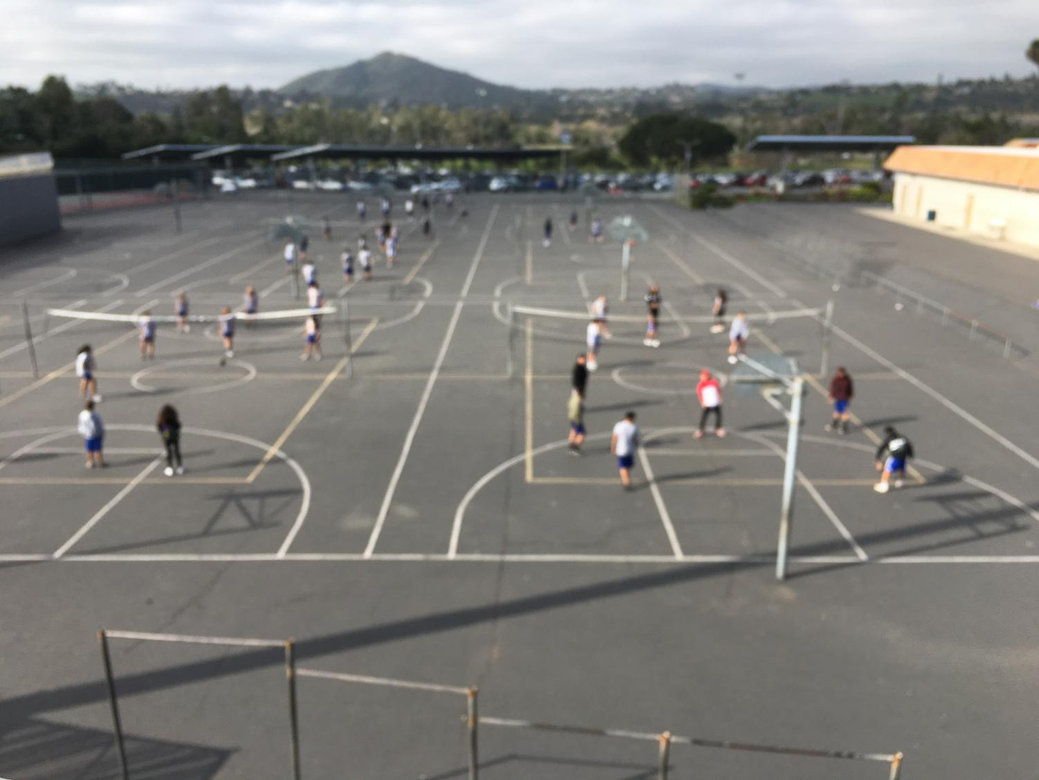 Students at San Pasqual preparing for the fitness test that takes place in the following few months.   photo credits- Elizabeth Haros
