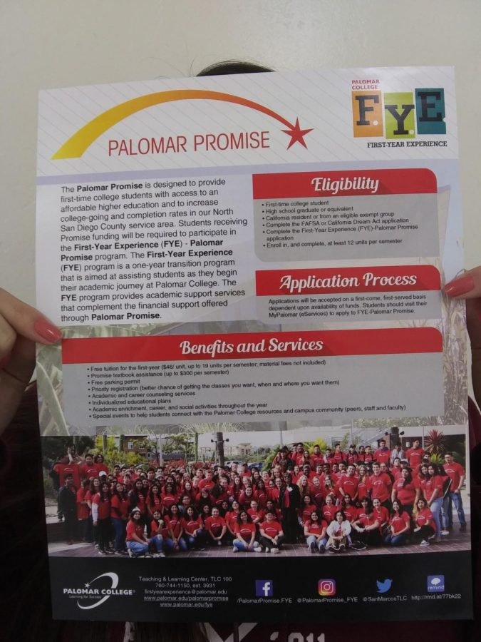 The+Palomar+Promise+is+offered+to+all+seniors+that+meet+the+eligibility+terms+to+further+their+education+and+prepare+them+for+possible+careers.%0A