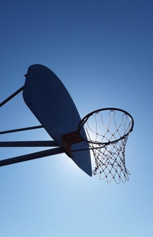 An outdoor basketball hoop at San Pasqual High School. Photo taken by: Samantha Bredel